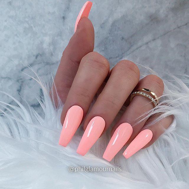 38 Wonderful pink Nail Art Design Ideas - JimIamy #summernails