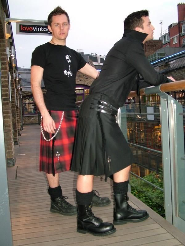 e208721503a Tartan kilt and solid black kilt