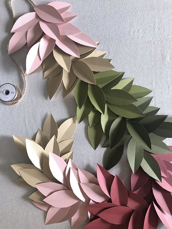 Colorful Paper Leaf Garland for Fall #leafgarland
