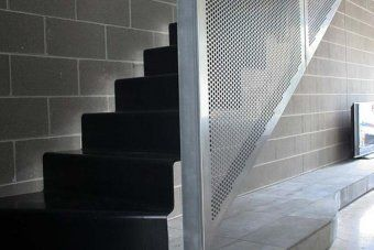 Best Folded Steel Stair Perforated Metal Balustrade With 400 x 300