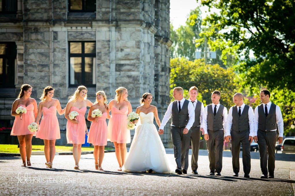 Bridal Party Kristen Borelli Photography Victoria Wedding Photographer Pine Lodge Farms