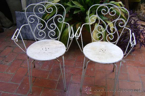 Sillas de hierro para jardin, 170 € | Vintage | Pinterest | Hierro ...