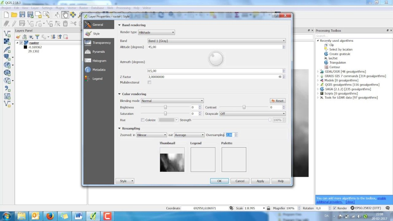 QGIS Virtual raster/Contour 3D / DXF   Geospatial / GIS   Contour