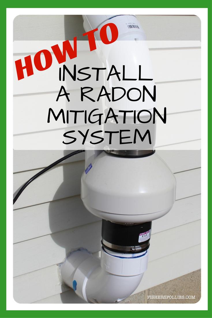 How To Install A Radon Mitigation System Radon Mitigation