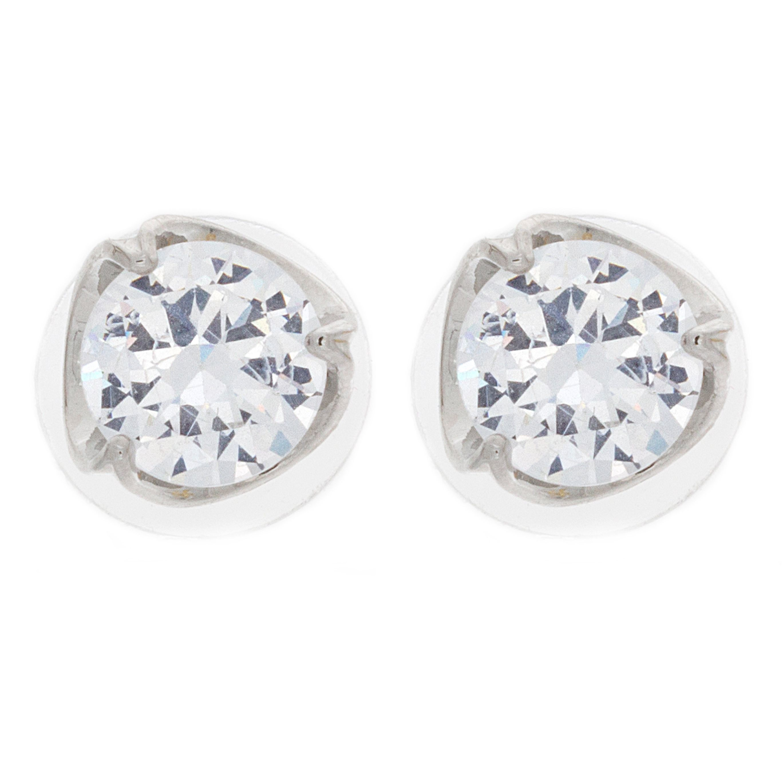 loading earrings casual ladies itm is solitaire yg a diamond princess dia image cut gold stud
