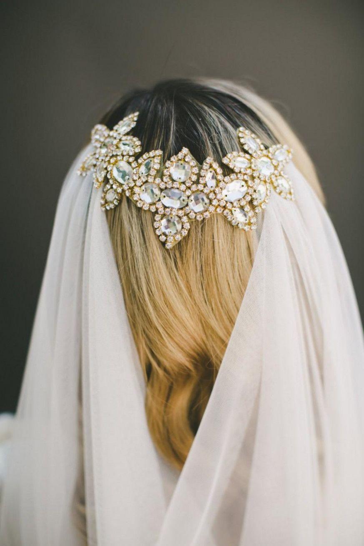 daa1ef32 english net veil draped veil wedding veil bridal veil gold bridal comb hair  accessory #WeddingVeils #GoldBridalHeadpieces