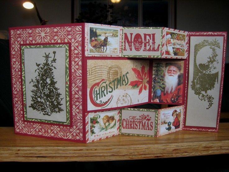 tri fold christmas card - Tri Fold Christmas Cards