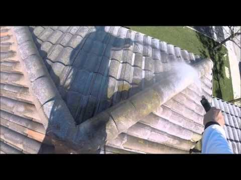 Softwash Tile Roof Cleaning In Morgan Hill Ca With Images Roof Cleaning Roof Tiles