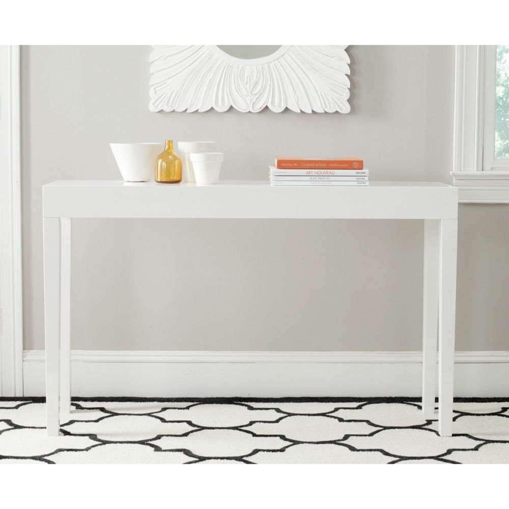 Safavieh kayson white lacquer console table overstock safavieh kayson white lacquer console table overstock shopping great deals on safavieh coffee sofa end tables geotapseo Choice Image