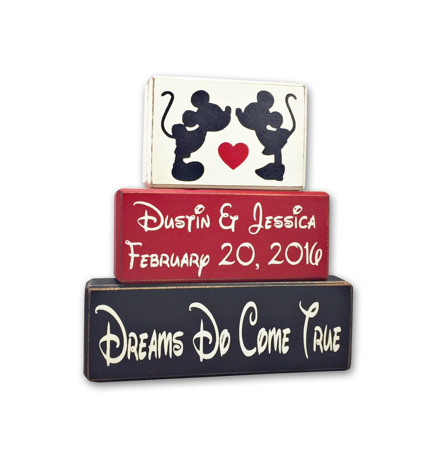 Disney Wedding Gift Mickey And Minnie Mouse Personslized Sign Wood