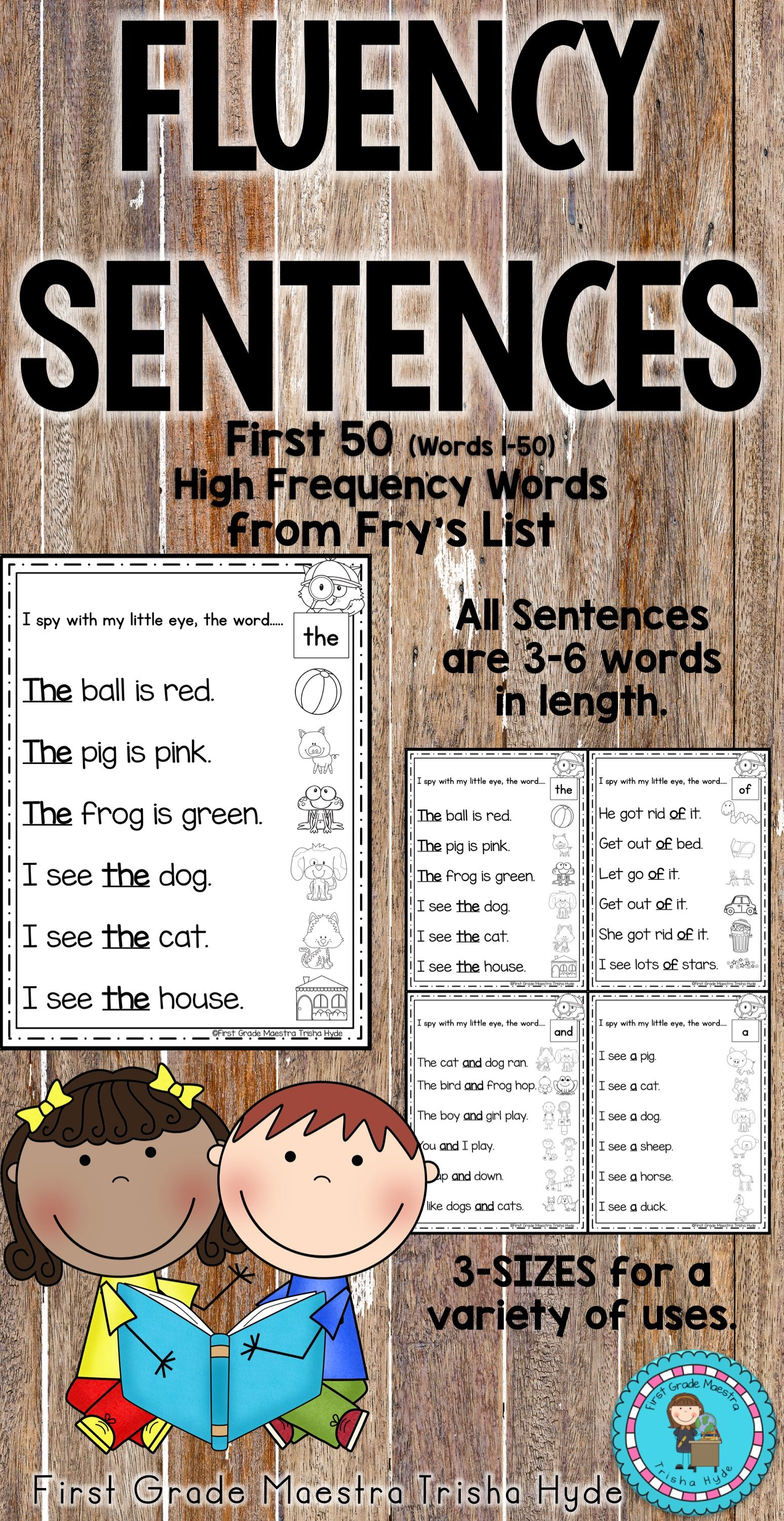 High Frequency Words Fluency Sentences Fry S First 50