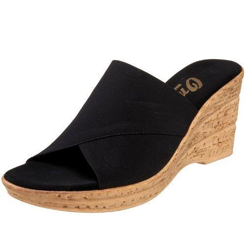 Fabric 8 Black Strap Christina Sandals On Onex B Slip Size Women's wz6XqCSxW