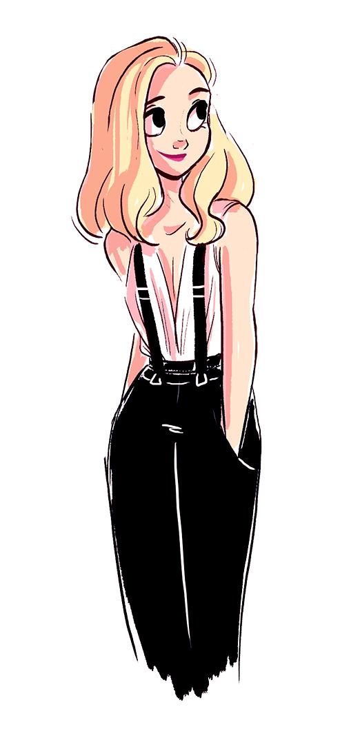 Art Of Miranda Yeo Girl Cartoon Girl Drawing Character Design