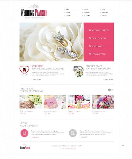 Wedding Planning Websites.Wedding Planner Website Template Zivitush Website