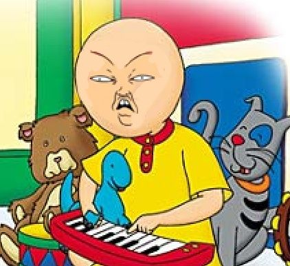 omg what happen to caillou | Cartoon memes, Caillou, Funny ...