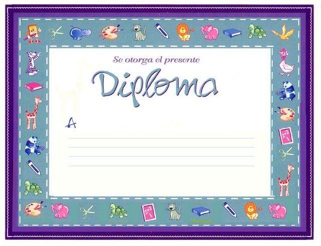 Diplomas para escolares de reconocimiento infantil Educación