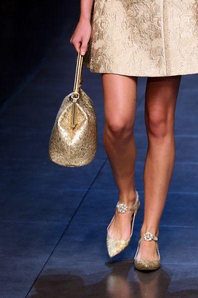 Dolce & Gabbana ss14 - gold - handbag - lovely shoes
