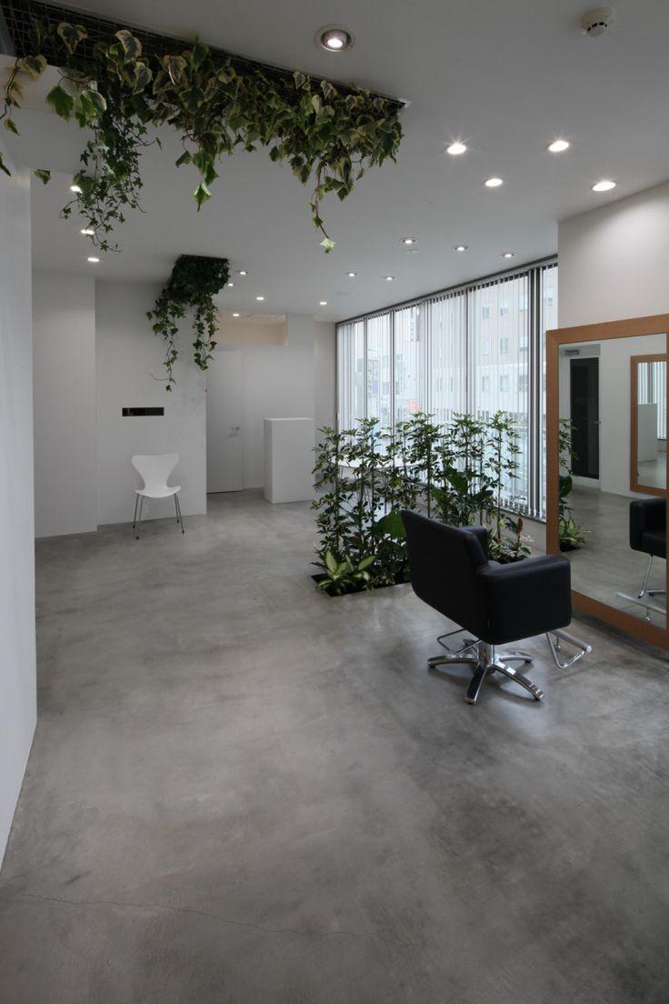 Salon interior design by Kia Knapp on Greenery Hair