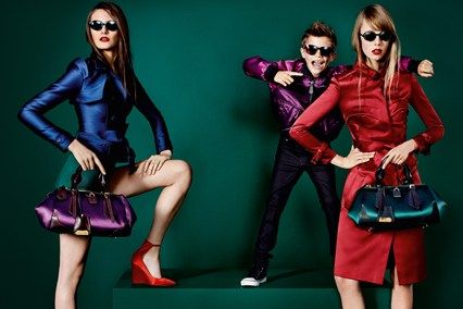 Charlotte Wiggins, Romeo Beckham and Edie Campbell for Burberry spring/summer 2013