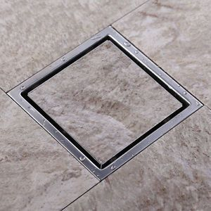 Square Invisible Floor Drain Shower Grate Water Waste Drain Stainless Steel Hidden Shower Shower Drain Shower Floor