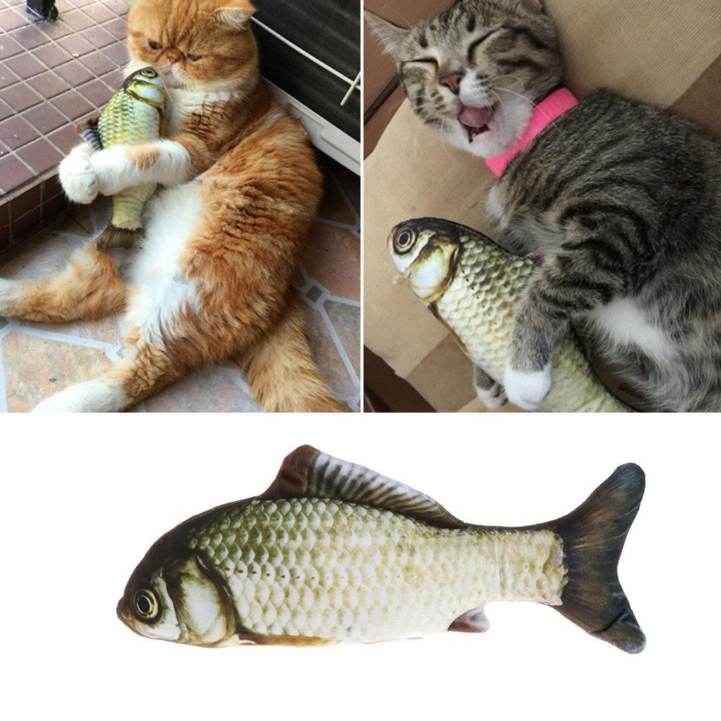 Qisuw Cat Mint Chew Toys Fish 3d Print Plush Fish Interactive Toy Teeth Grinding Toy For Cat Kitty Kitten 20 Cm You C Cat Pet Supplies Cat Plush Cat Toys