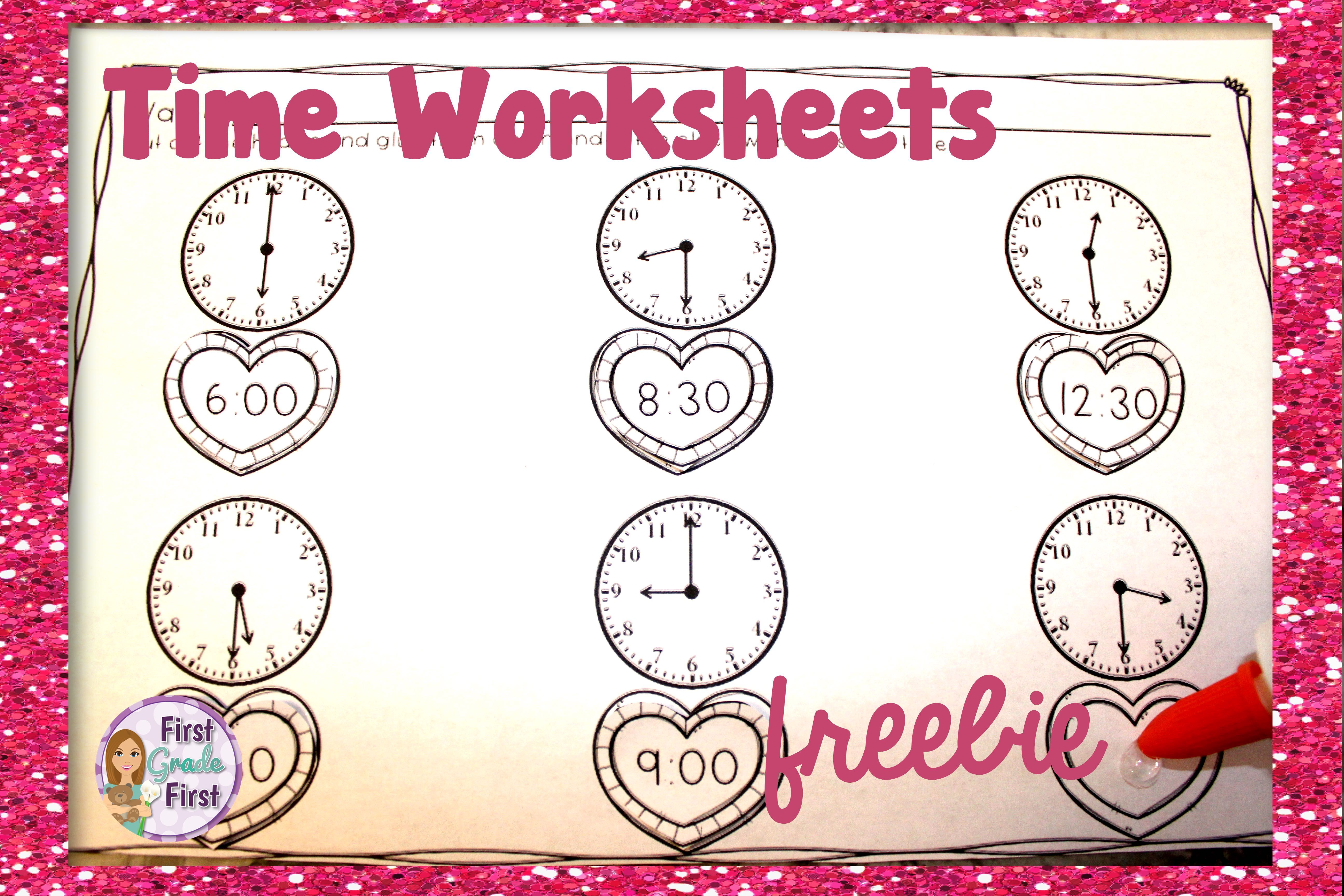 Time Worksheets For Valentine S Day Freebie