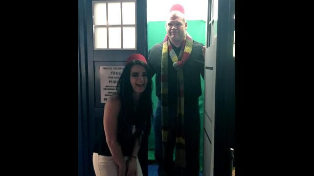 Paige And Kane Visit The Doctor Who Set In Cardiff Wales Photos Doctor Who Visit Cardiff Photo