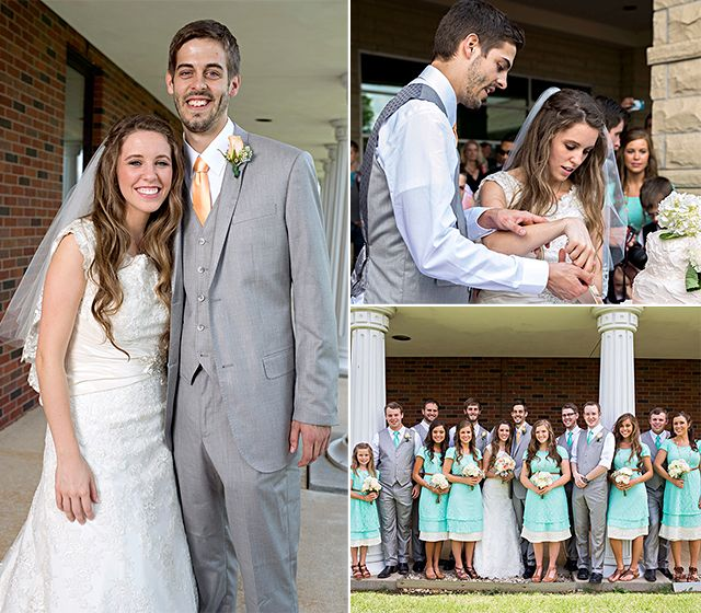 Happily married husband and wife: Derick Dillard and Jill Duggar at their wedding ceremony