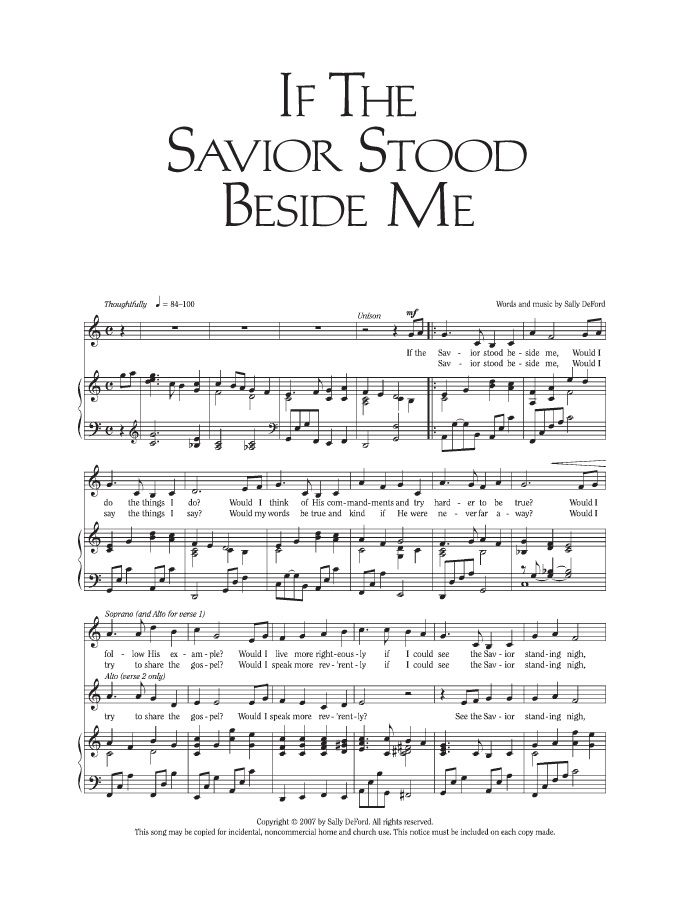 Music, If the Savior Stood Beside Me church Pinterest Savior - resume music