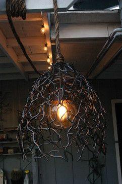 Outdoor Hanging Bird S Nest Light Fixture Eclectic Lighting