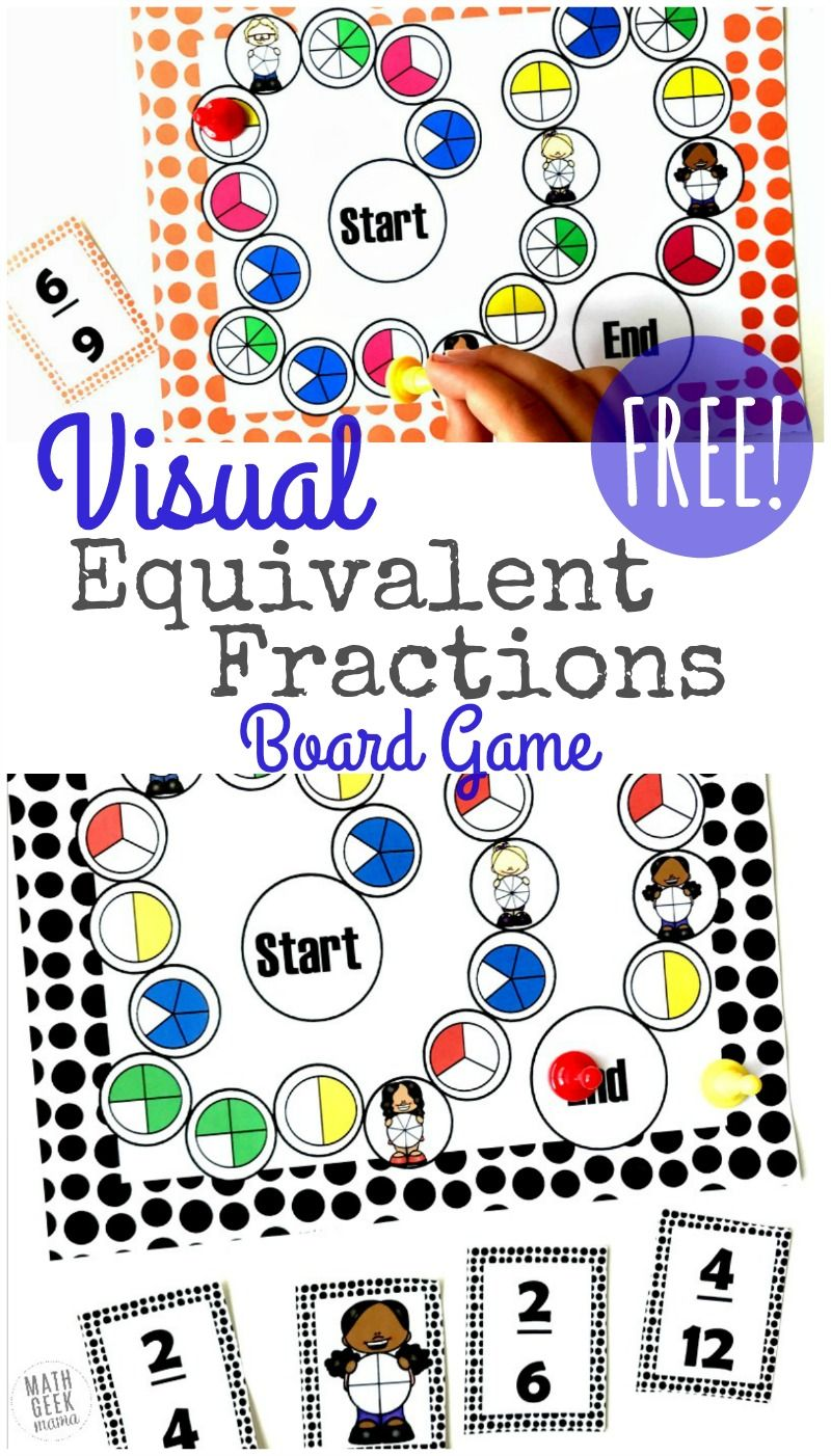 picture regarding Printable Fraction Games known as Visible Identical Fractions Activity Printable No cost