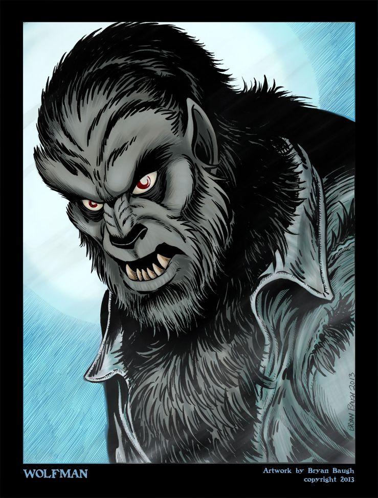 Wolfman Portrait By Bryanbaugh Deviantart Com On Deviantart