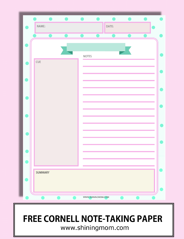happy freebie monday note taking sheets free pretty planners