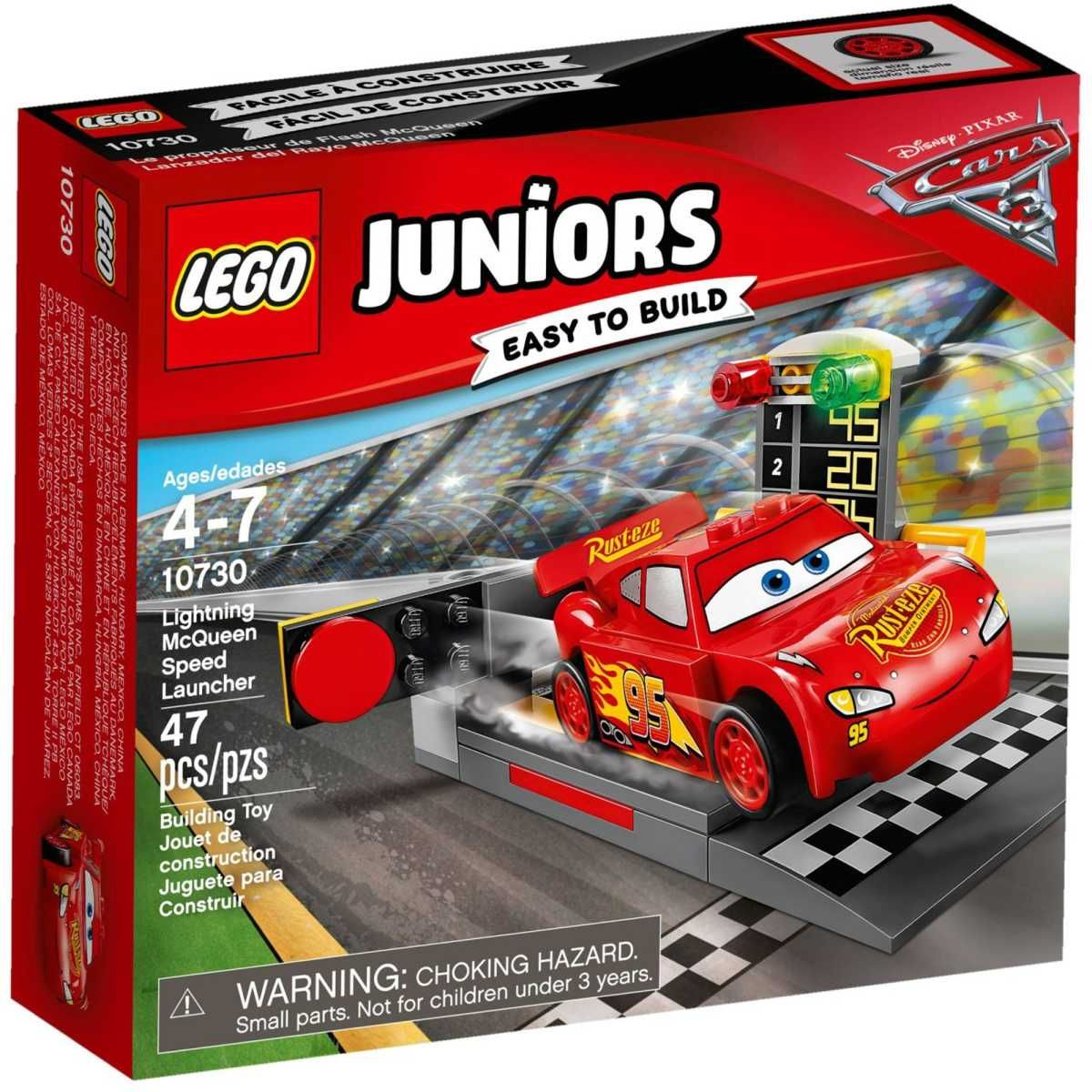 Cars 3 Jackson Storm Jouet Lego Juniors Cars 3 Lightning Mcqueen Speed Launcher 10730