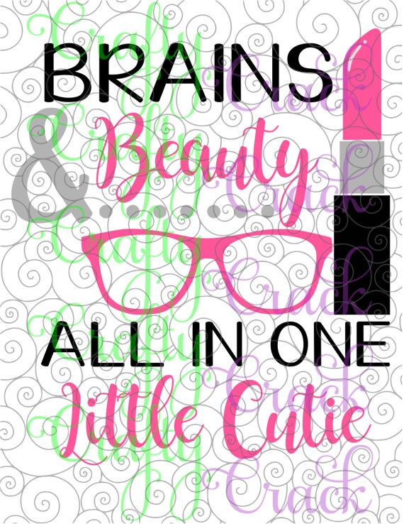 Download Brains & Beauty All in One Little Cutie SVG, DXF, PNG ...