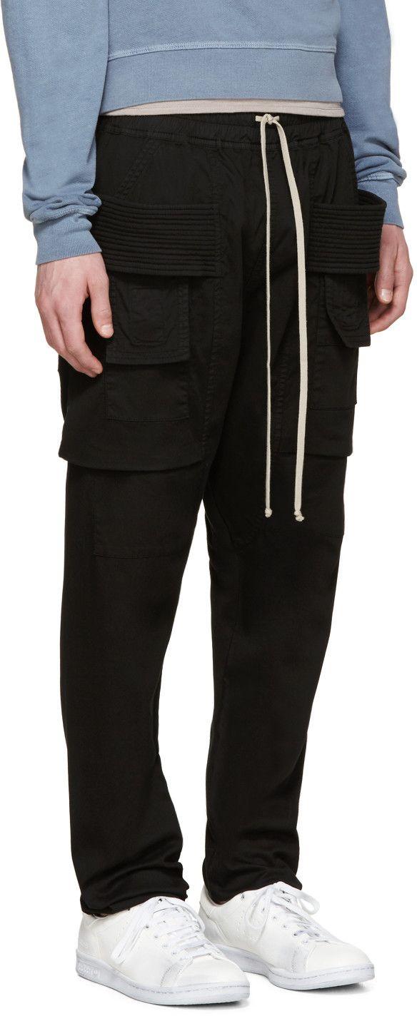 39c27a1a1ccf Rick Owens Drkshdw - Black Creatch Cargo Trousers