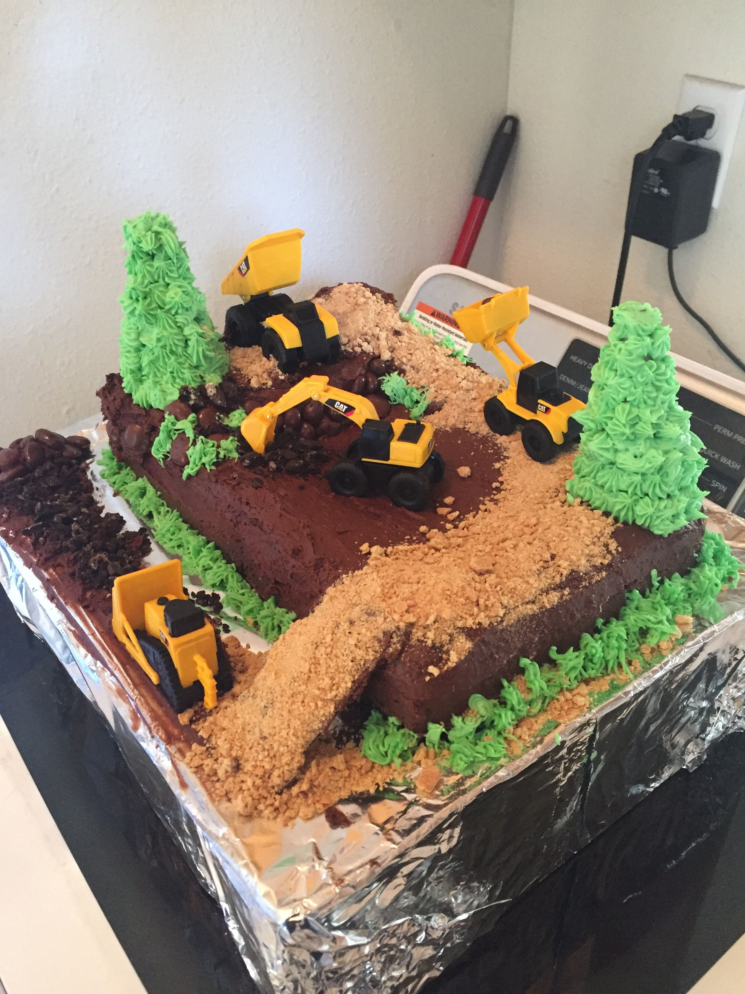 Toddler Boy Construction Site Birthday Cake Cakes Ideas
