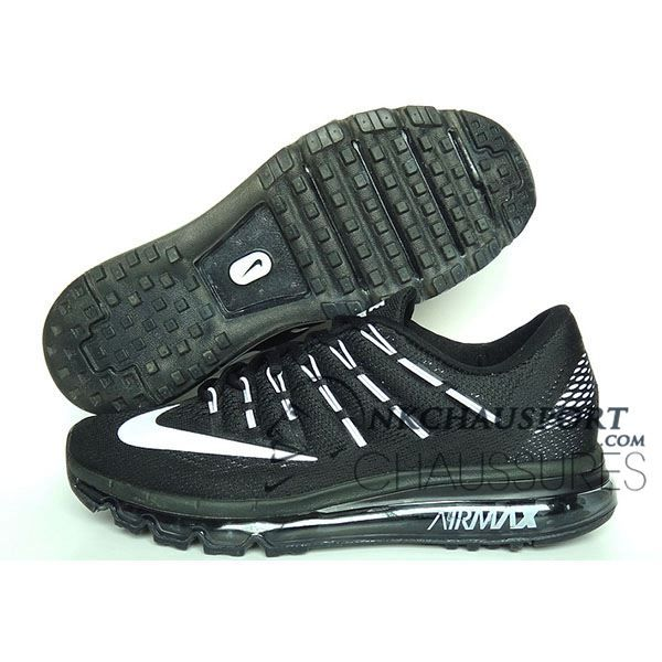 Air Max Nike 2016Meilleur Noirblanche Chaussures Running Homme EDIW29HY