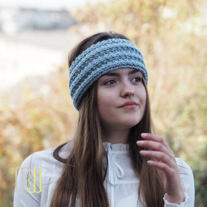 Stirnband Rippe | Stirnband, Rippchen und Stirnband stricken