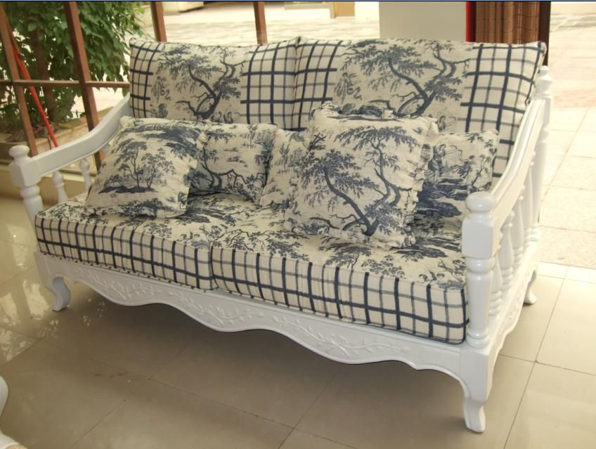 Hot Item Wood Frame Fabric Sofa 1 Sofa Makeover Wood Frame Couch Porch Furniture