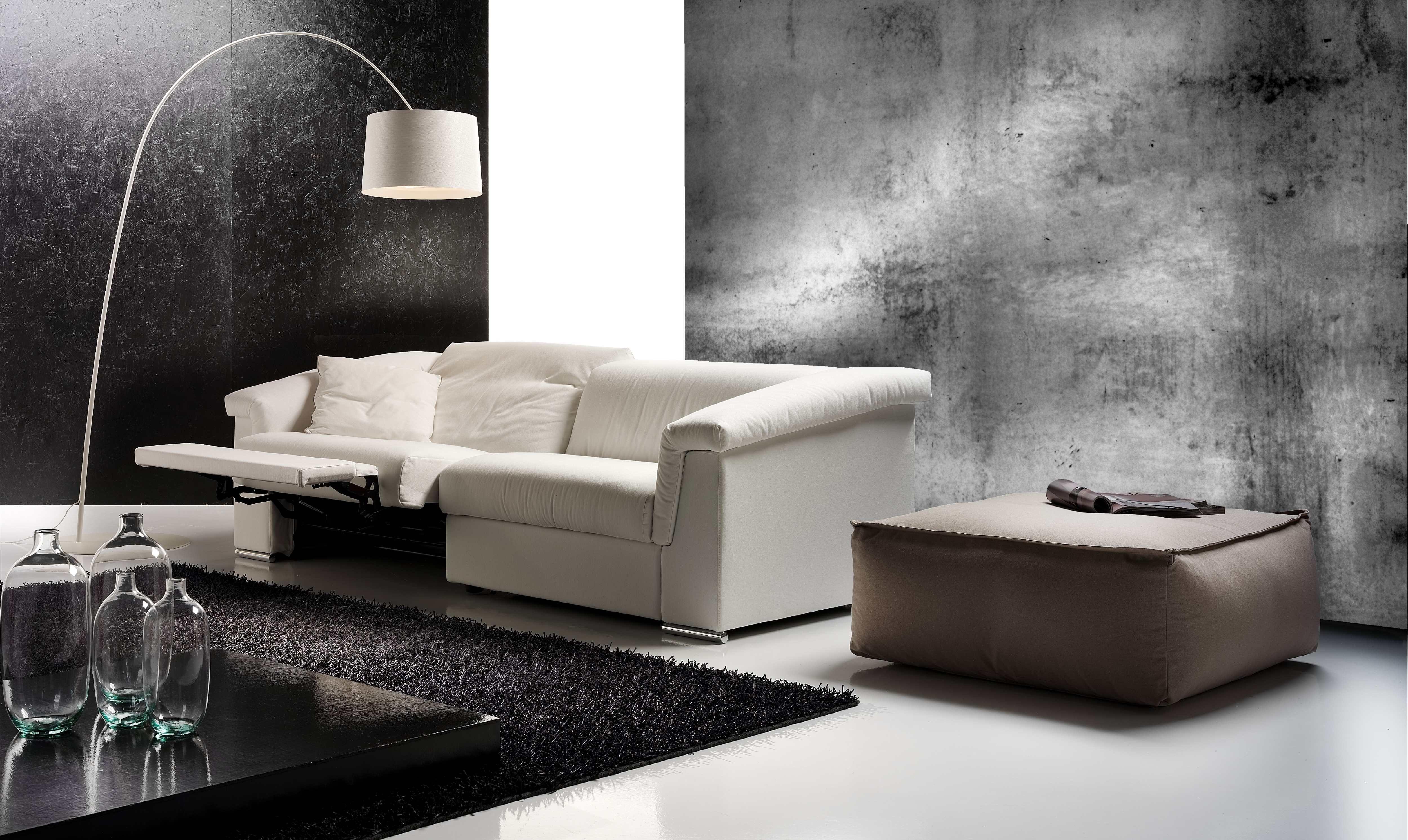 Eurosalotto Divano 2 posti bianco con seduta relax Sedia