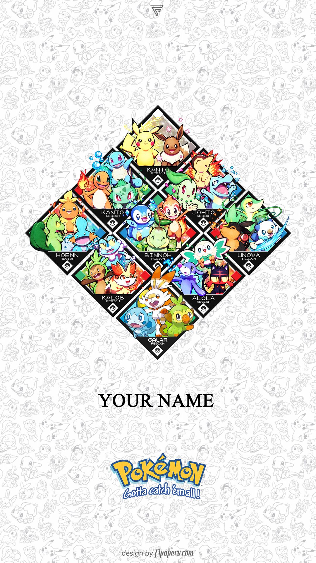With Pokemon Sword And Shield Around The Corner Here Is A Wallpaper With All The Starters From Kanto To Galar Pikachu Wallpaper Iphone Pokemon Starters Pokemon
