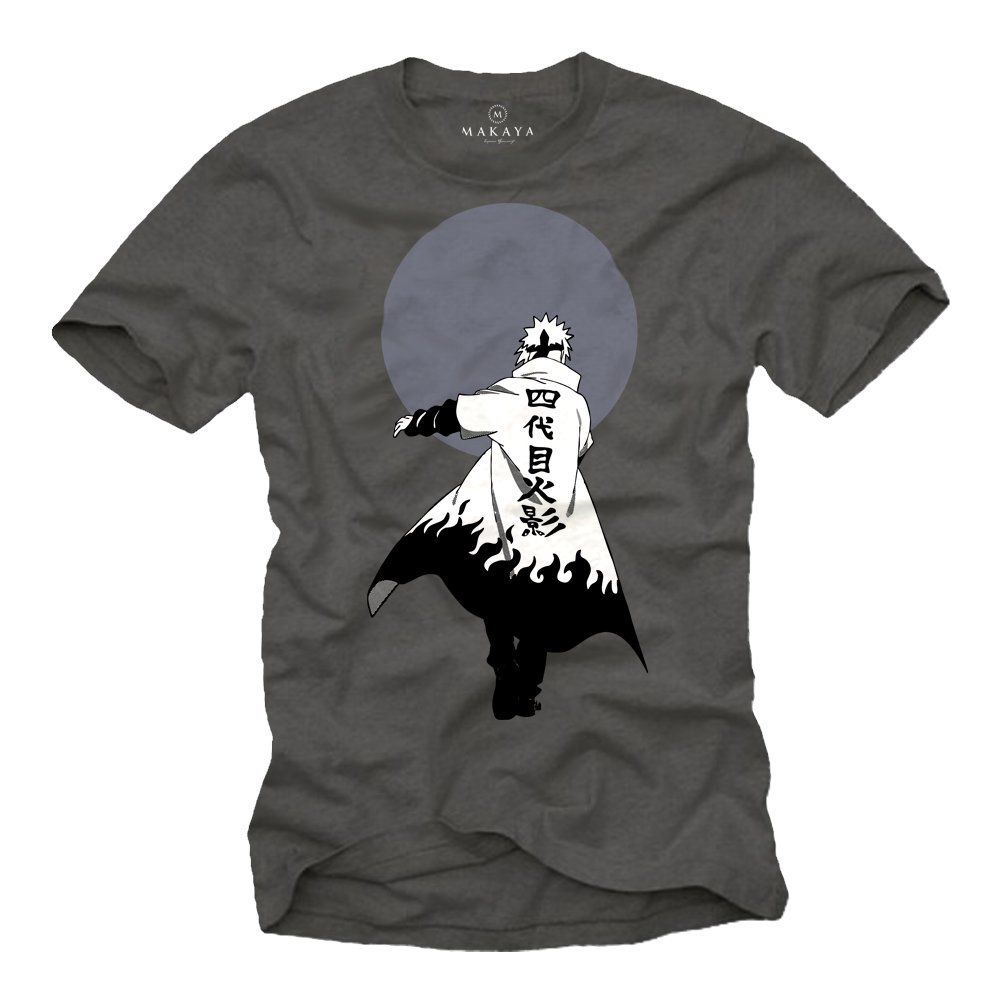 Anime t shirt naruto ninja magliette uomo manica corta