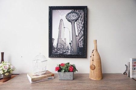 Quadro Decorativo Relógio de Manhattan