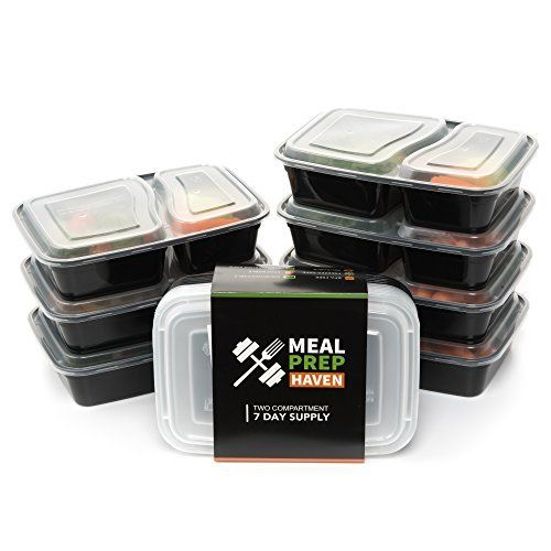 California Home Goods 3 Compartment Reusable Food Storage Containers With Lids Microwave And Dishwash Best Meal Prep Containers Meal Prep Containers Meal Prep