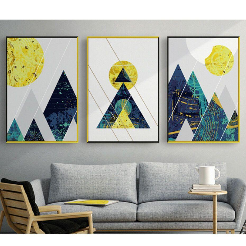 abstract mountain art set of 3