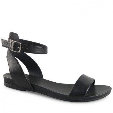 a93d4cae891e Wittner Lights Sandal Black Leather