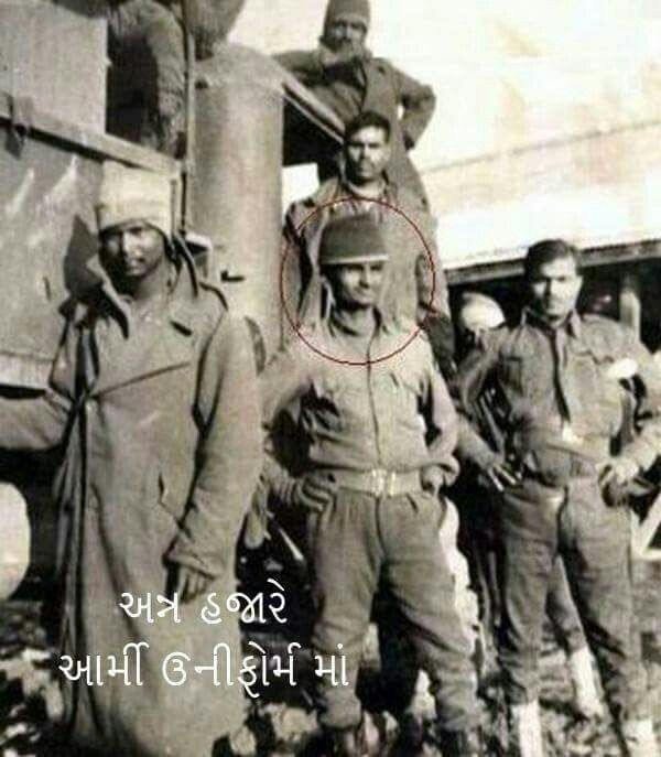 Image result for anna hazare in army dress