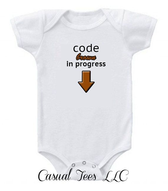 3a65c8d30 Code Brown in Progress Funny Baby Bodysuit for by CasualTeeCo, $15.00