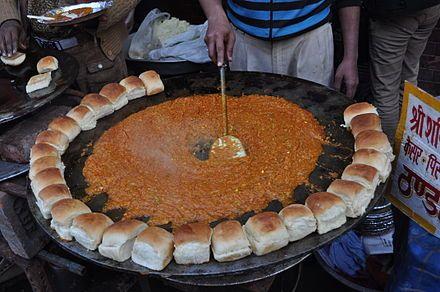 Pav bhaji wikipedia the free encyclopedia curry powderspicy pav bhaji wikipedia the free encyclopedia forumfinder Gallery